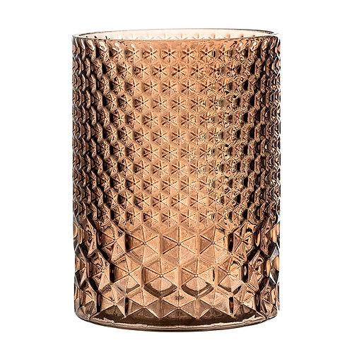 Brown Glass Cylinder Votive