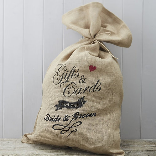 Hessian Burlap Cards Wedding Sack