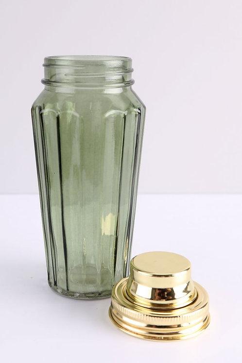 Green Glass Cocktail Shaker