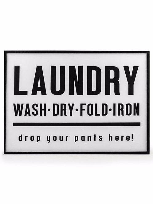 Laundry Wall Sign