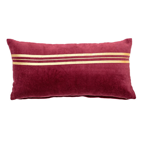 Red & Gold Stripe Cushion