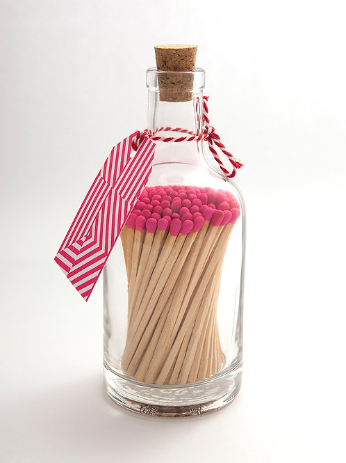 Hot Pink Top Matches in Glass Bottle