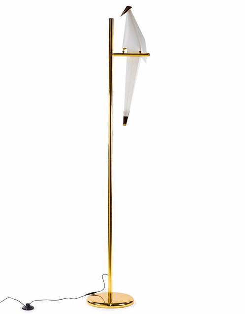 White perching bird floor lamp aloadofball Choice Image