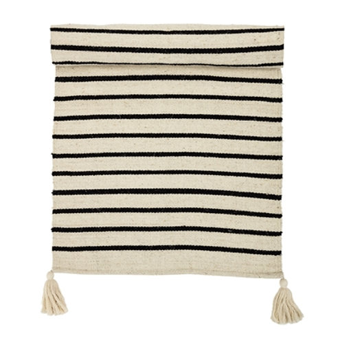 Natural Striped Large Cotton Rug
