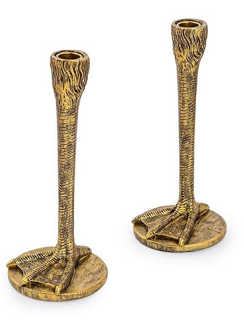 Bird Leg Candlesticks Gold