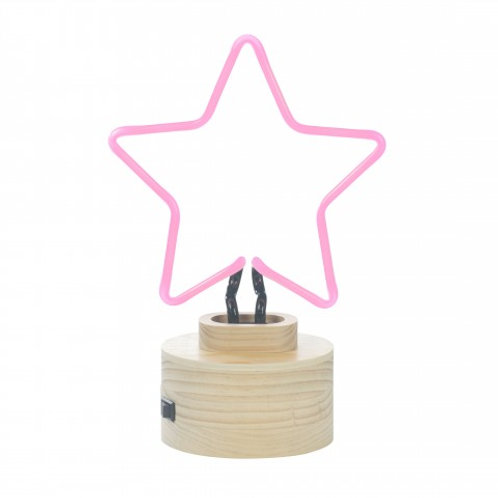 Neon Pink Star Table Lamp