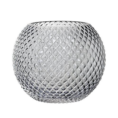 Large Grey Glass Votive