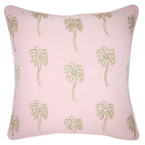 Elizabeth Scarlett Velvet Palmier Cushion