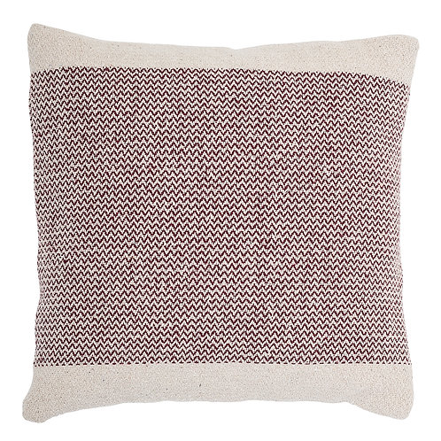 Red and Cream Cotton Cushion