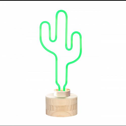 Neon Green Cactus Table Lamp