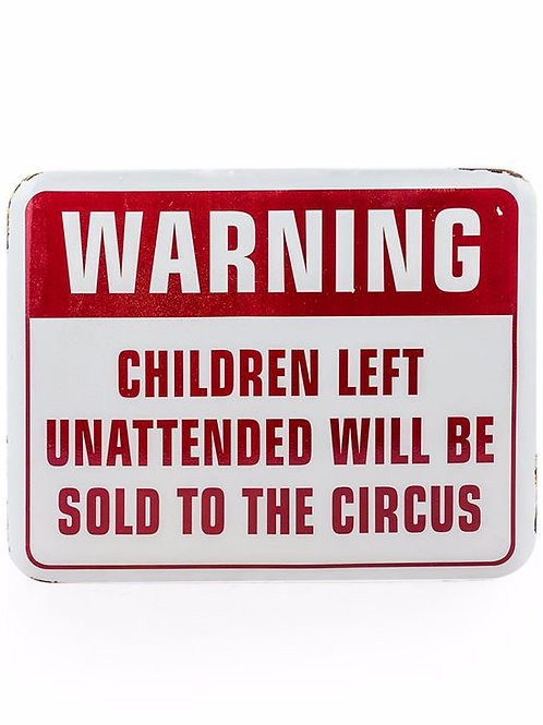 Antiqued Circus Wall Sign