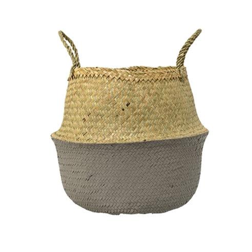 Grey & Natural Seagrass Basket