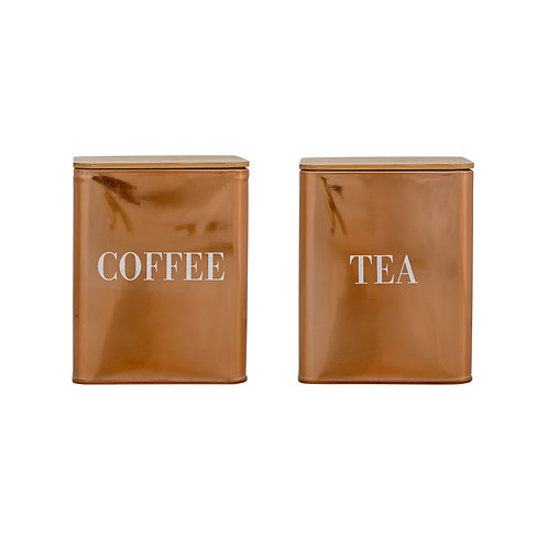 Tea & Coffee Copper Cannisters