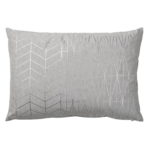 Grey & Silver Patterned Cushion