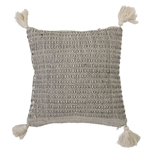 Natural Cotton Cushion with Tassels