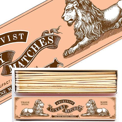 Extra Long Lion Vintage Design Matches