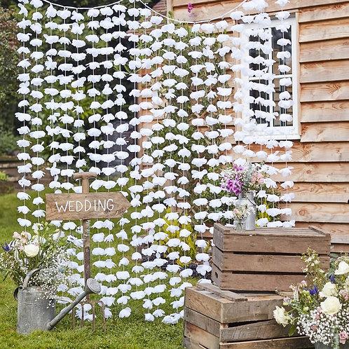 White Floral Back Drop
