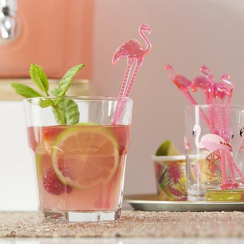 Hot Pink Flamingo Drink Stirrers