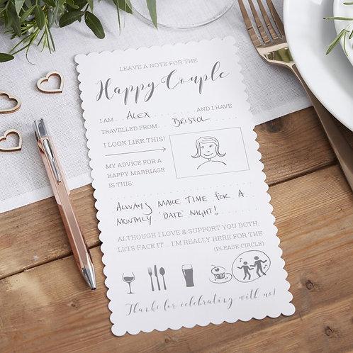 Happy Couple Advice Cards