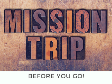 My Personal Promise and Covenant for the Missions Trip