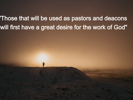 Do we have a desire to do the work of God?
