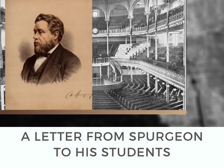 A letter from Spurgeon to his students