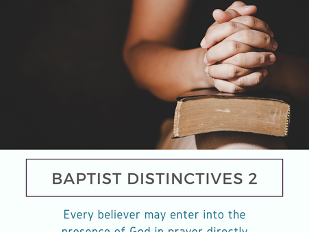 Baptist Distinctives 2