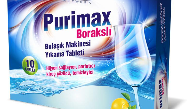 Purimax Bulaşık Makinesi Tableti 10'Lu