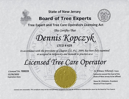 Licensed Tree Care Operator (LTCO)