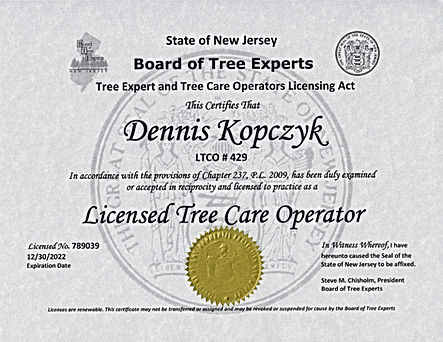 Licensed Tree Care Operator (LTCO)