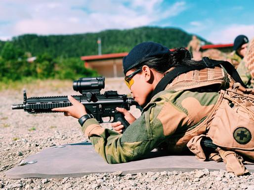 Q&A med vakt og sikrings soldatene