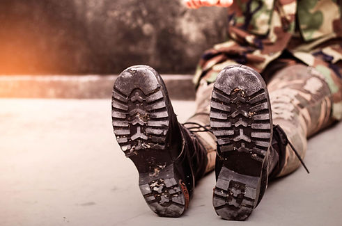 boots-of-soldiers-with-practicing-PYCG2Z