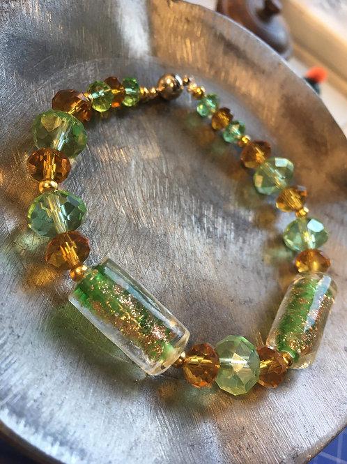 bracelets perles de verre et cristal