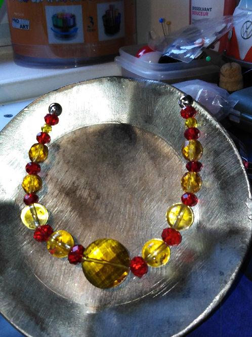 bracelet perles semi précieuse, cristal