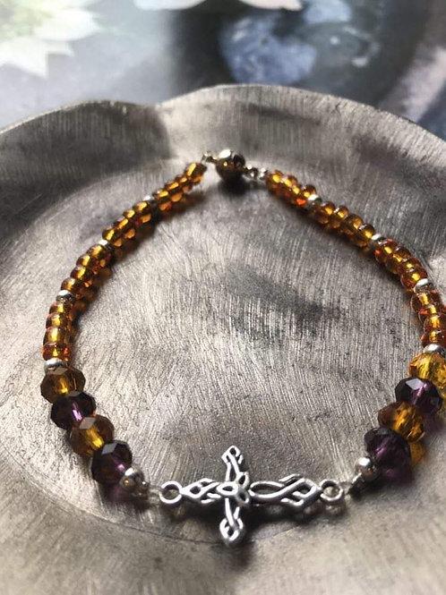 bracelets perle de verre et perles de cristal