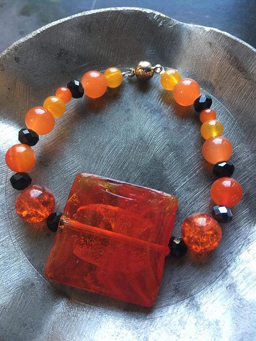 bracelet verre/cristal