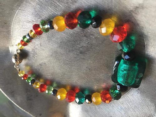 bracelet perles de cristal et verre