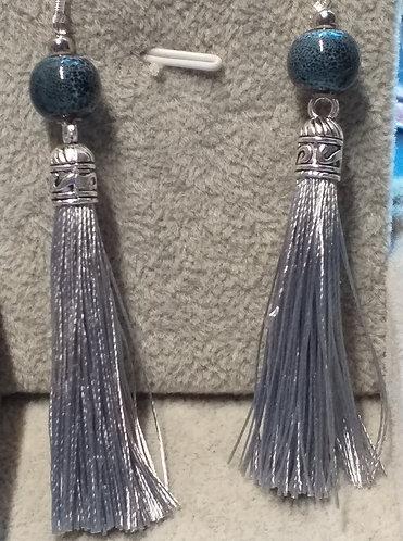 boucles d'oreille céramique, soie
