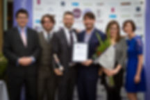 Paddy, Rob, Anna & Amanda receive award from Eric Lanlard