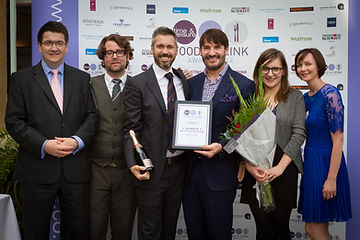 Paddy, Rob, Anna & Amanda receive award from Eric Lanlard
