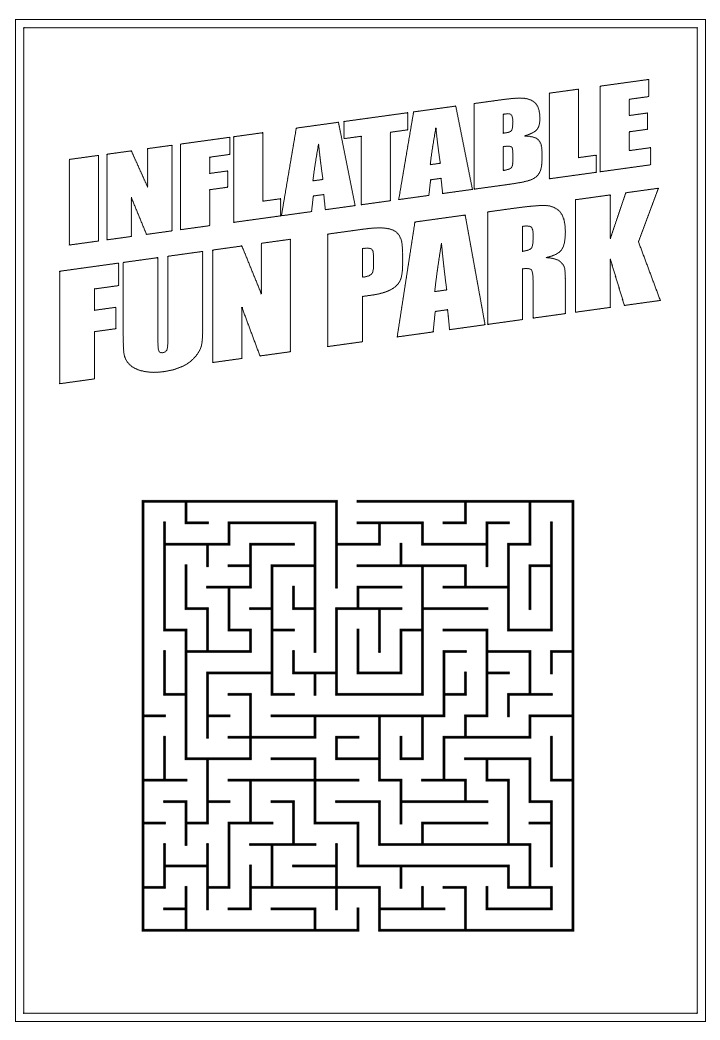 Inflatable Fun Park | Activity Page 37 | Maze