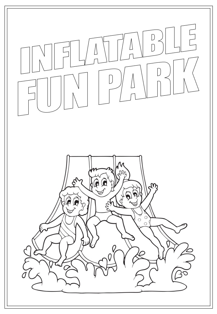 Inflatable Fun Park | Activity Page 31 | Colouring page