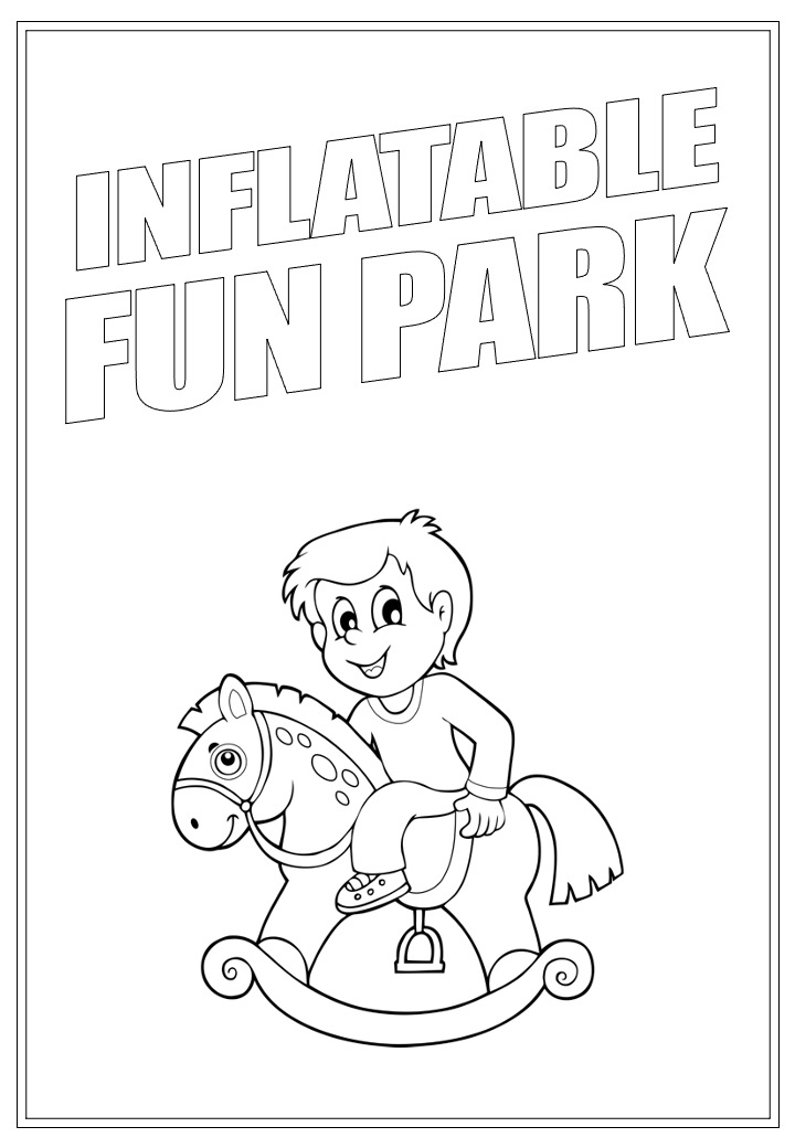 Inflatable Fun Park | Activity Page 23 | Colouring page