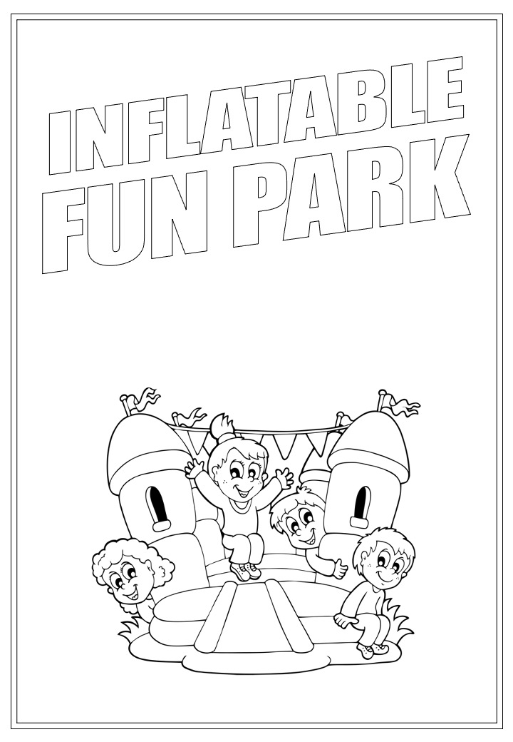 Inflatable Fun Park | Activity Page 38 | Colouring page
