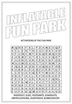 Inflatable Fun Park | Activity Page 19 | Word search