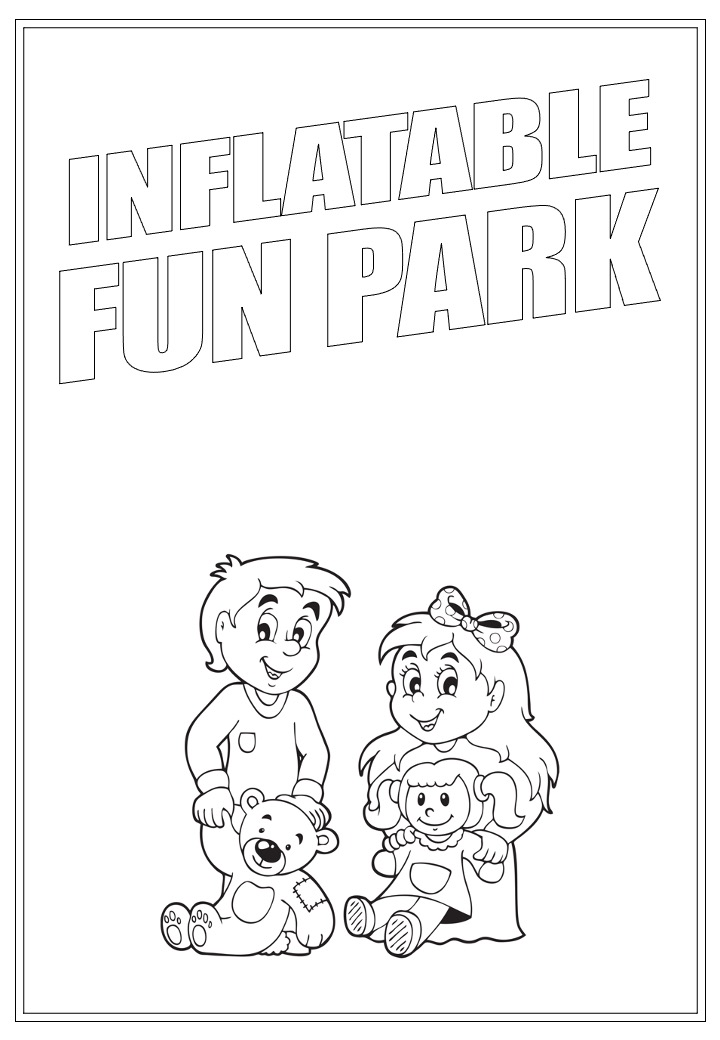 Inflatable Fun Park | Activity Page 20 | Colouring page