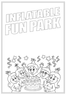 Inflatable Fun Park | Activity Page 22 | Colouring page