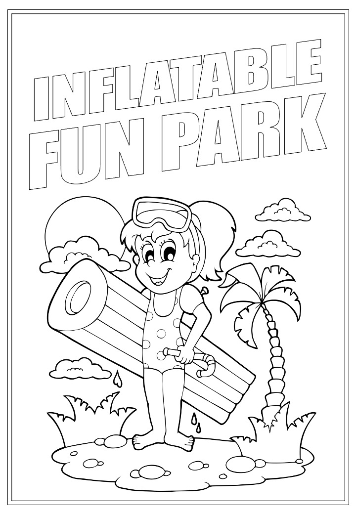 Inflatable Fun Park | Activity Page 26 | Colouring page
