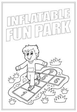 Inflatable Fun Park | Activity Page 34 | Colouring page
