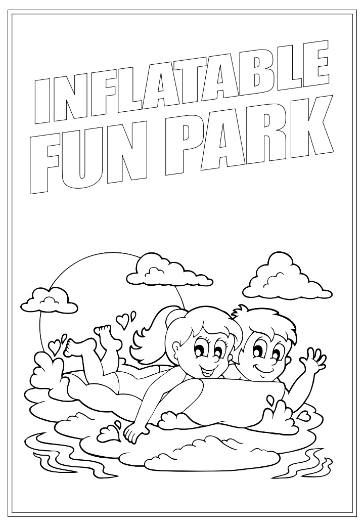 Inflatable Fun Park | Activity Page 25 | Colouring page